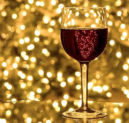 christmasholiday christmas wine glass - Wine Christmas